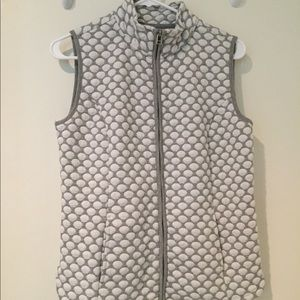 Passport | grey and white dot vest, S